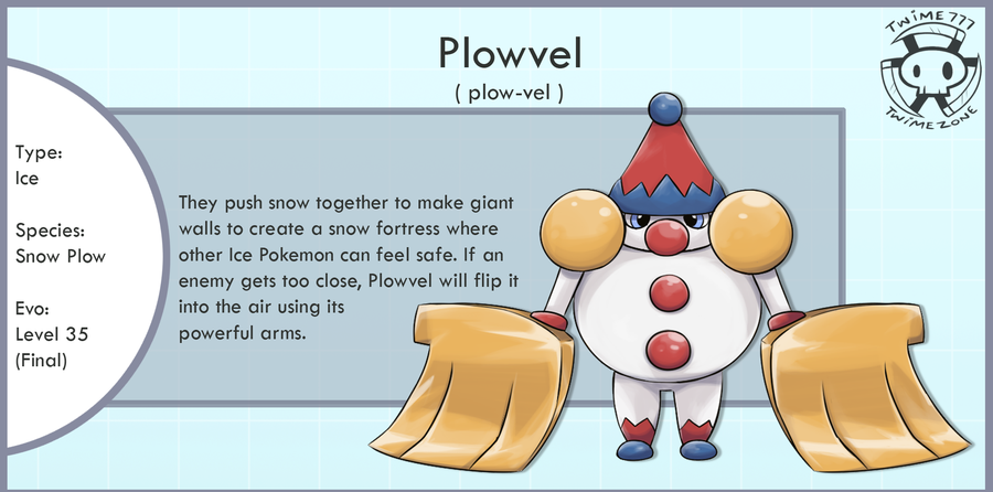 Snow Plow Fakemon (contest entry) by Twime777 on DeviantArt