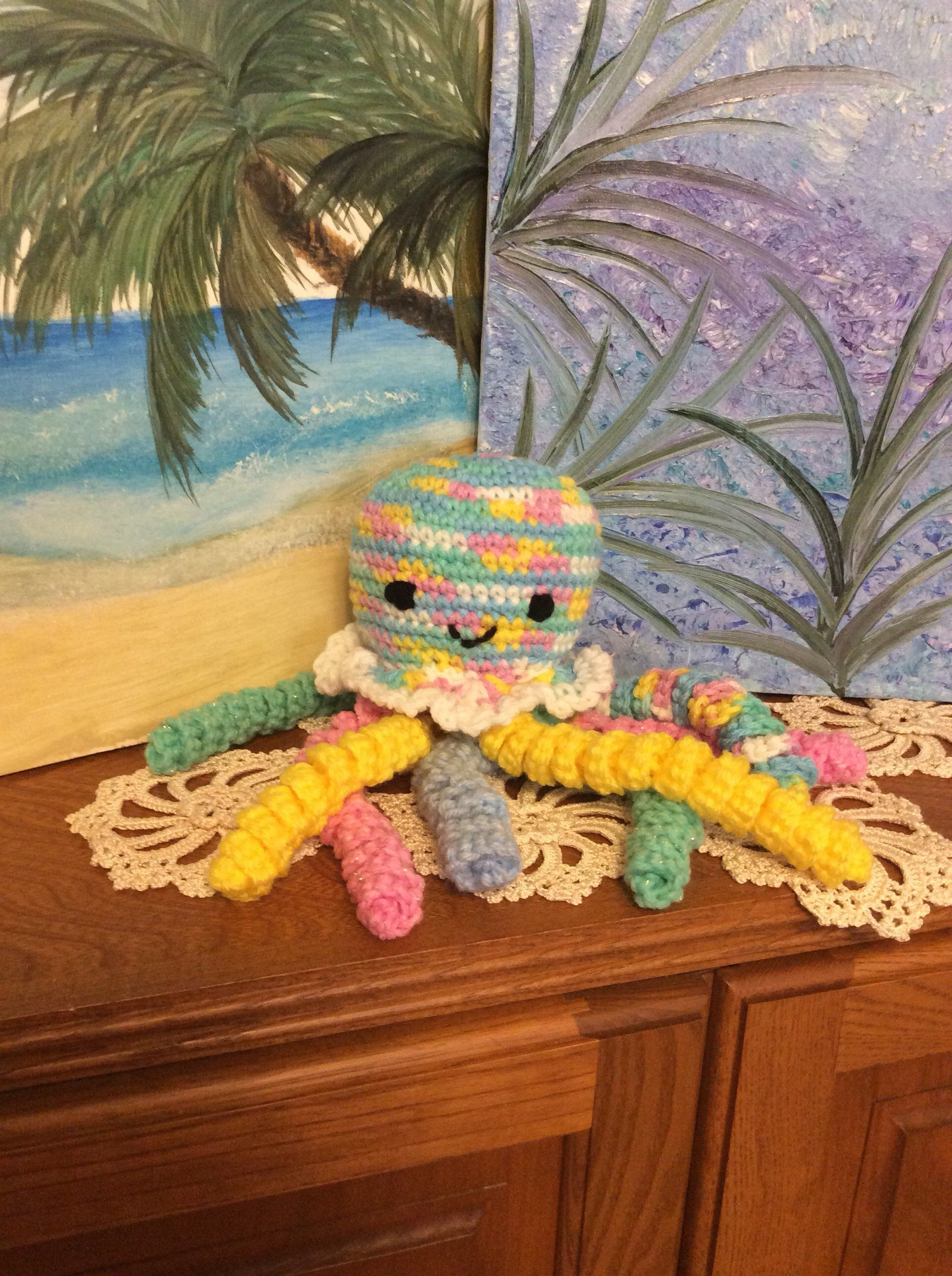Baby Safe Crocheted Octopus Toy Crochet octopus, Baby