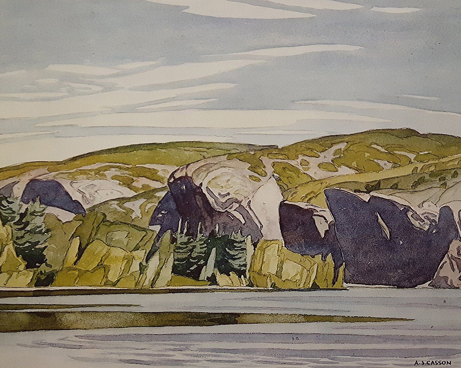"Limited Edition A. J. Casson Lithograph ""Summer Lake Mazinaw"": Amazon.ca: Home & Kitchen"