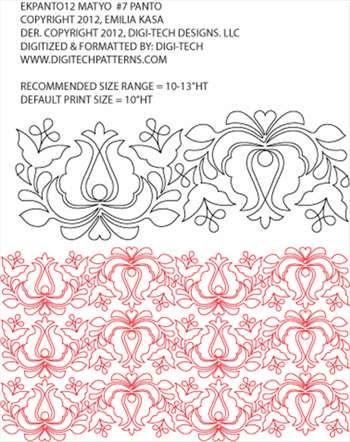 Matyo #7 Folk Art Flower Pantograph by Emilia Kasa EKPANTO12 ...