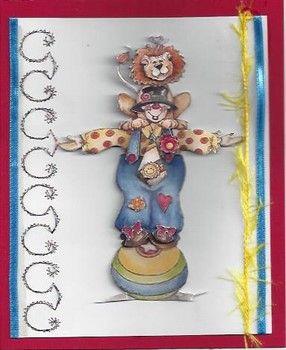 acrobatiek 3D borduren en linten gebruikt.