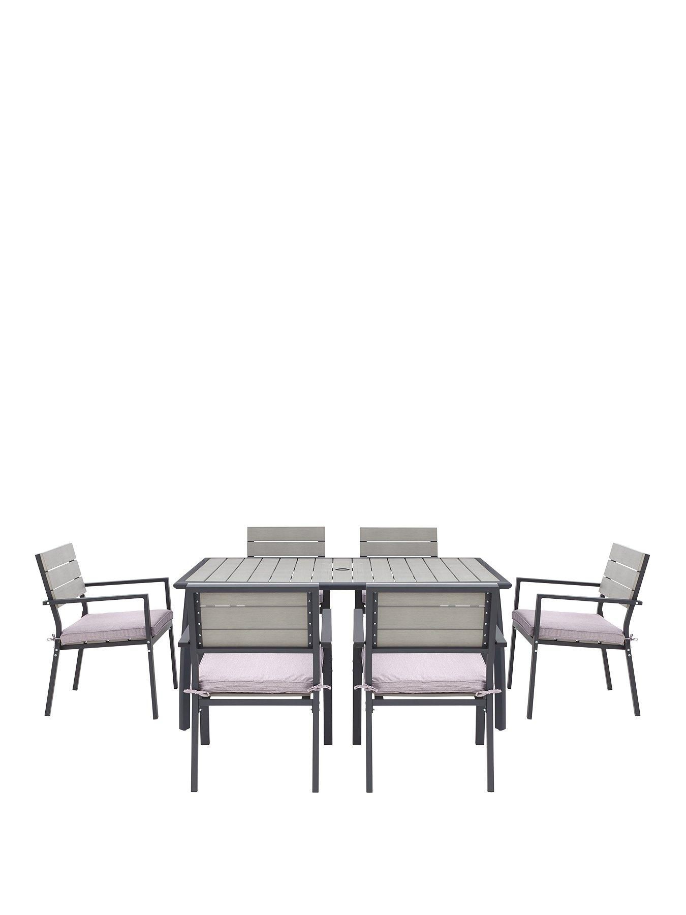 The Paris Polywood Table And 6 Chairs is ideal for enjoying your outdoors  Take mealtimes from fda9876372