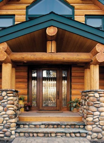Rustic Log Cabin Exterior Doors Found On Jeld Wen Cabin