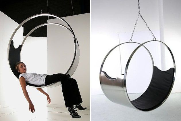 Circular Stainless Steel Zed Chair