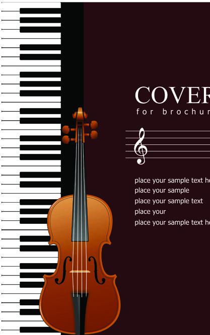 Music brochure Cover vector background 03 Music Pinterest - music brochure
