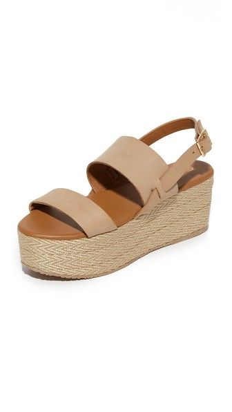 189d547b7f6 Herringbone rope covers the substantial platform on these leather KAANAS  sandals. Buckle closure at slingback strap. Rubber sole.