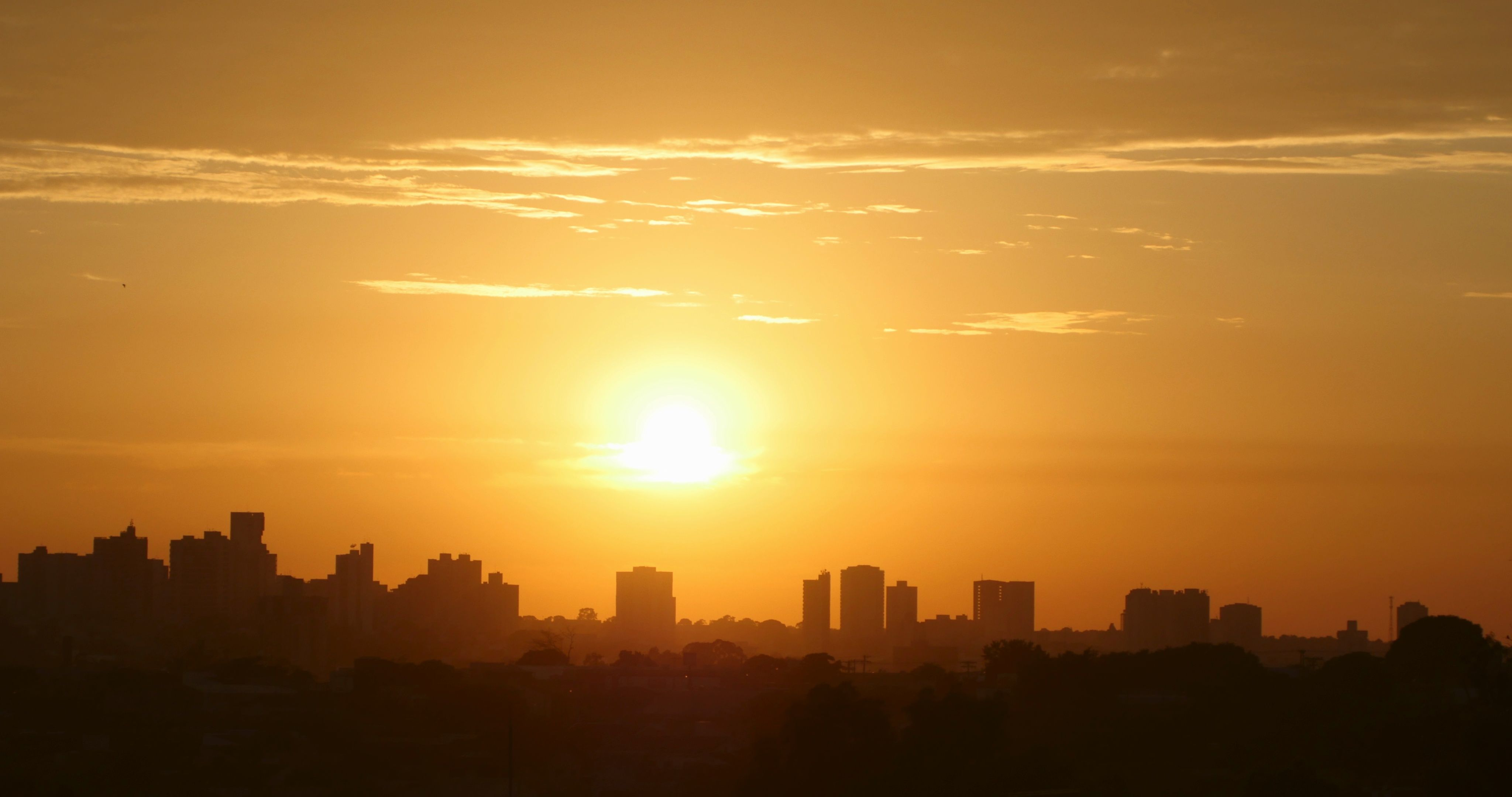 view of the city at sunrise stock footage city view sunrise footage