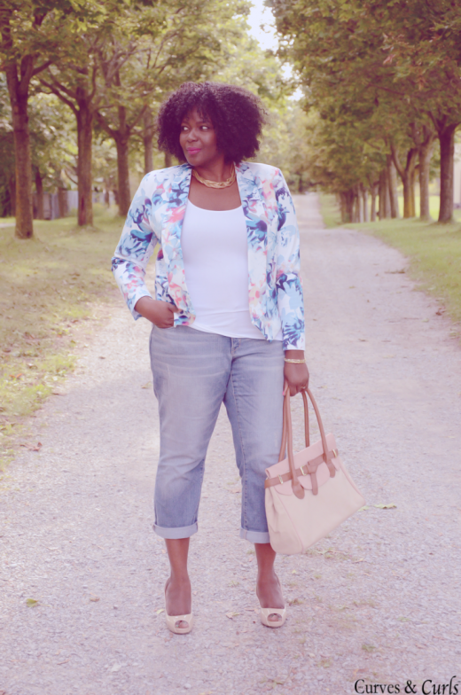 floral blazer and cute jeans – best places to find plus size jeans ...