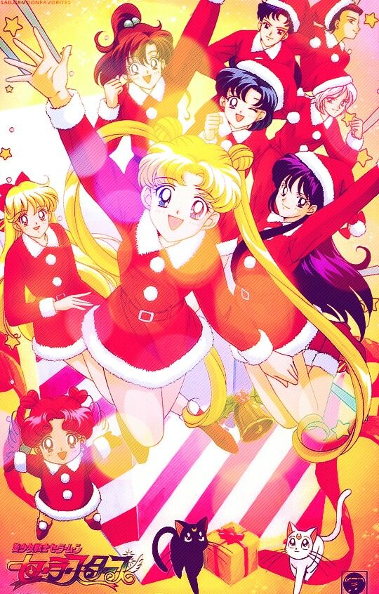 Sailor Soldiers In The Holiday Spirit
