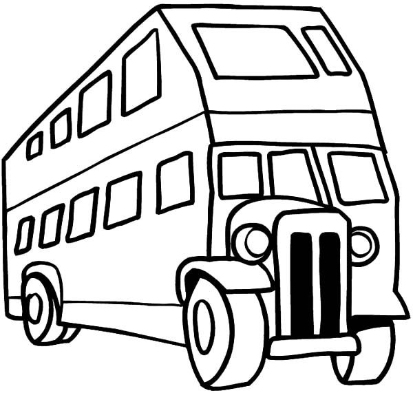 Double Decker Bus Coloring Pages For Kids With Images Coloring