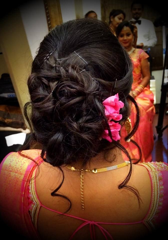 Indian Brides Bridal Reception Hairstyle By Swank Studio