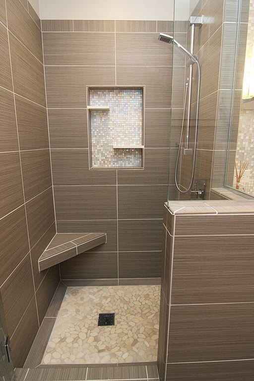 Modern Master Bathroom With Conchella Subway Natural 12 1 4 In X 12 1 2 In X 3 Mm Natural Seash Modern Master Bathroom Bathroom Remodel Shower Shower Remodel
