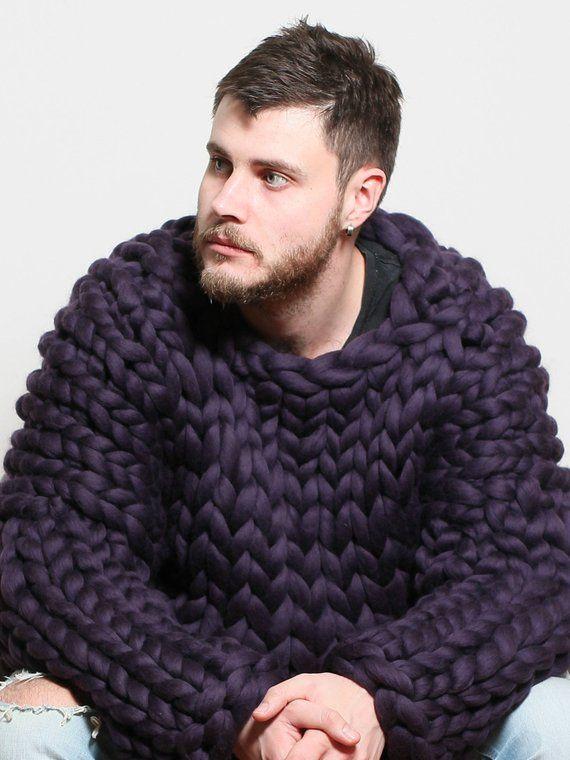 18c0e276b5b 90 colors! Chunky knit sweater for men, Merino Wool Sweater, Men ...