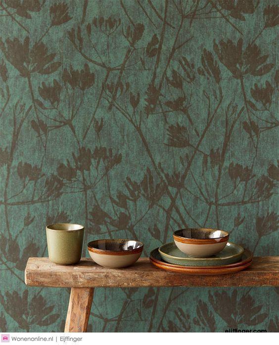 Eijffinger Lino - Ontdek de rijke schakeringen van grijs, blauw, crème, groen, teal-turquoise, greige en bruin.