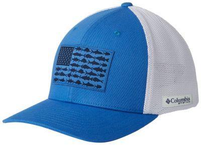 Pfg Mesh Fish Flag Ball Cap Columbia Sportswear Ball Cap Columbia Hat Youth Hats