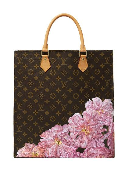 Hand Painted Customized Monogram Canvas Sac Plat By Louis Vuitton