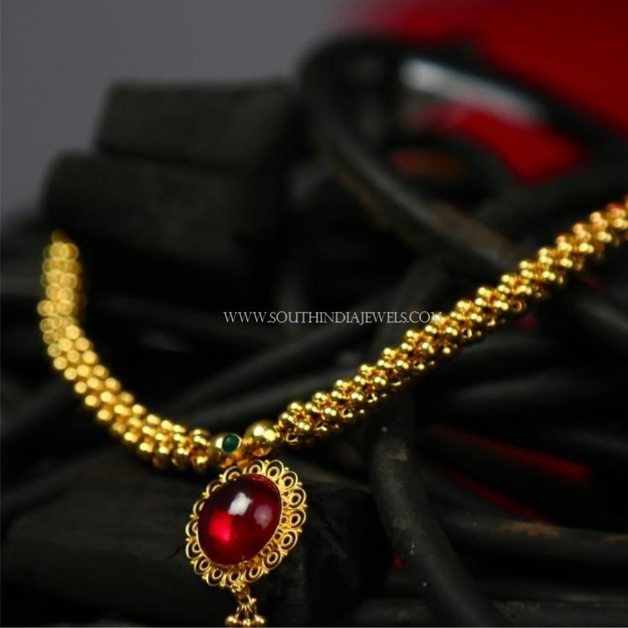 Gold Necklace Designs Below 10 Grams With Price South India Jewels Gold Necklace Designs Gold Jewellery Design Necklaces Necklace Designs