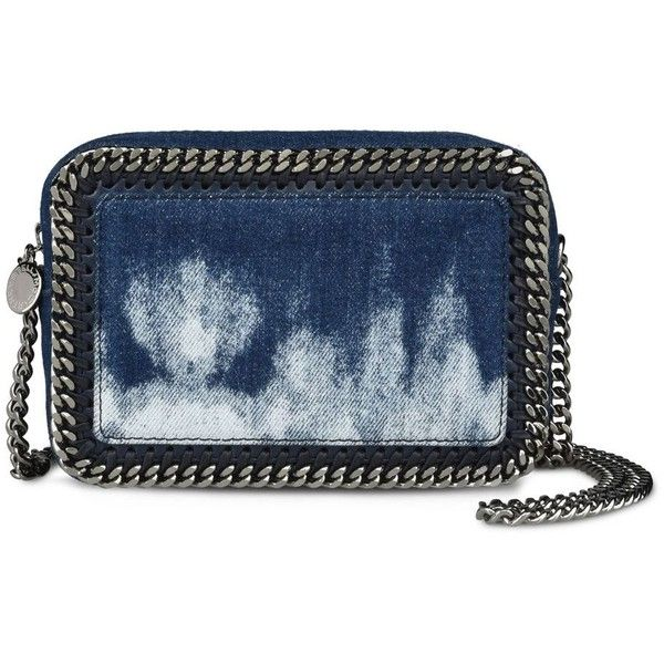 8c72fb02df Stella Mccartney Tie Dye Denim Falabella Cross Body Bag ( 825) ❤ liked on  Polyvore featuring bags