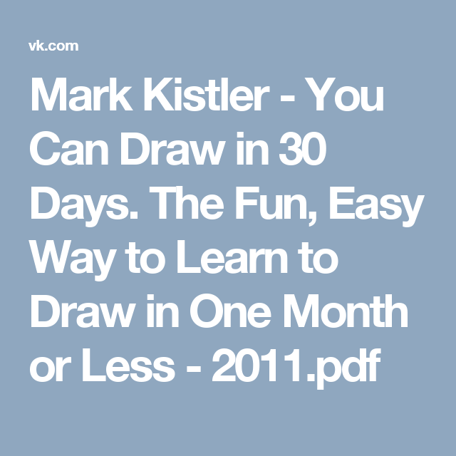 Mark Kistler Pdf