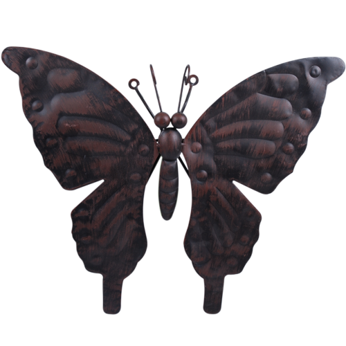 Garden Coll Deco Vlinder Metaal Zw Br 100 Nieuwste Vlinders Metaal Deco