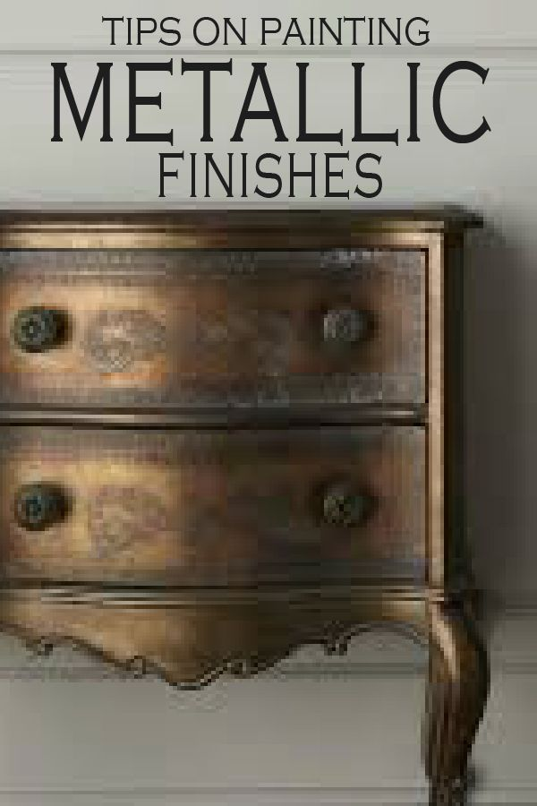 Photo of What To Know Before using Metallic Paint – Painted Furniture Ideas