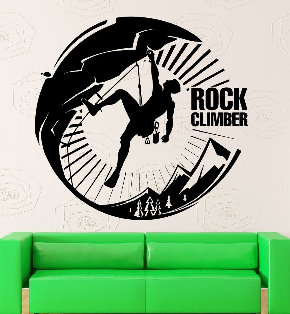 Rock Climbing Vinyl Removable Wall Sticker Climb Decal Poster Art Wall Decals Home Decor Mural Climbing S Vinyl Wall Decals Wall Decals Removable Wall Stickers