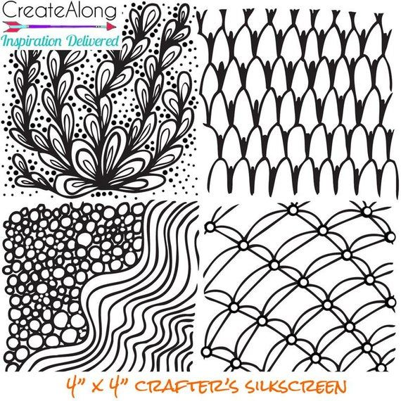 Silk screen Stencil Wonder Waves for Polymer Clay and
