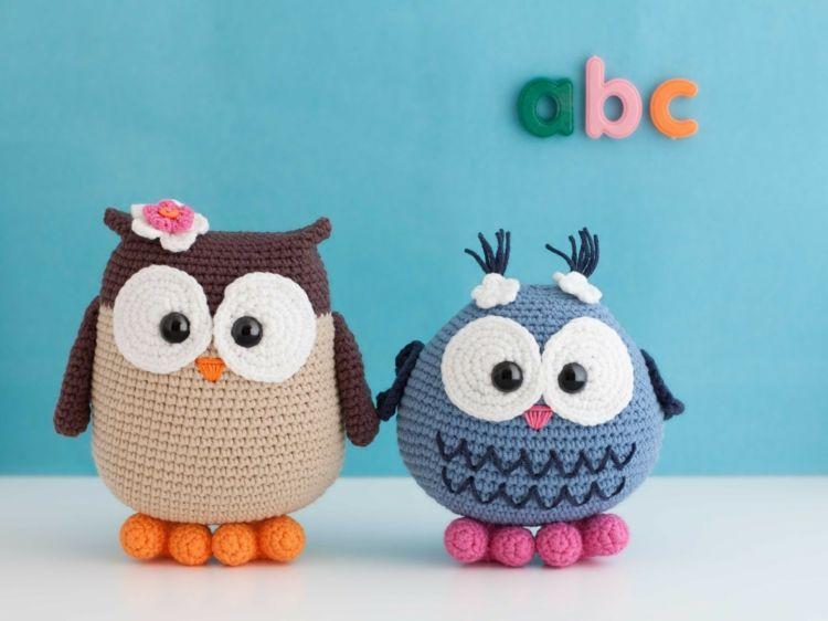 Eulen häkeln in verschiedenen Varianten und Farben | # Owls2 ...