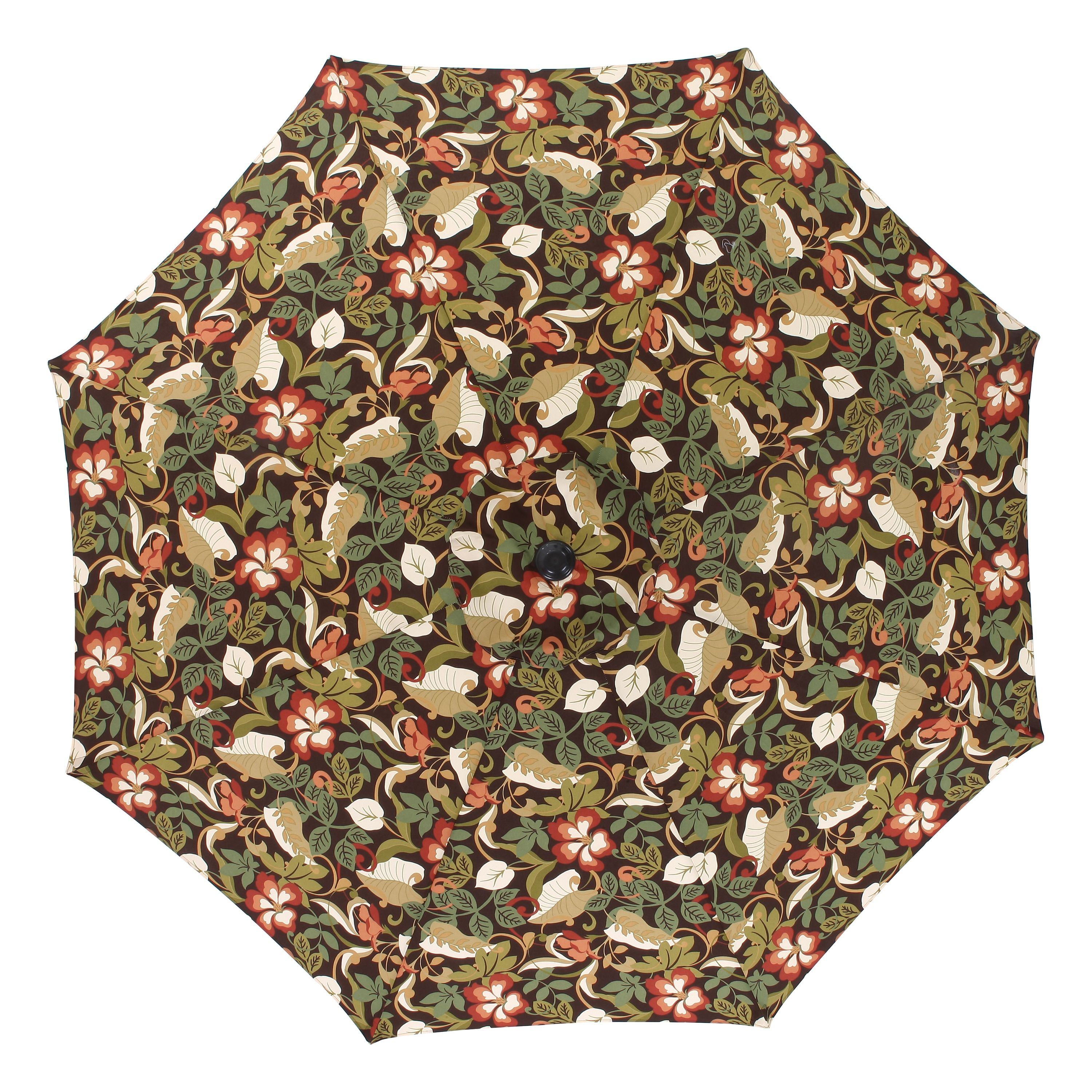 Pillow Perfect Coventry Brown 9foot Patio Market Umbrella