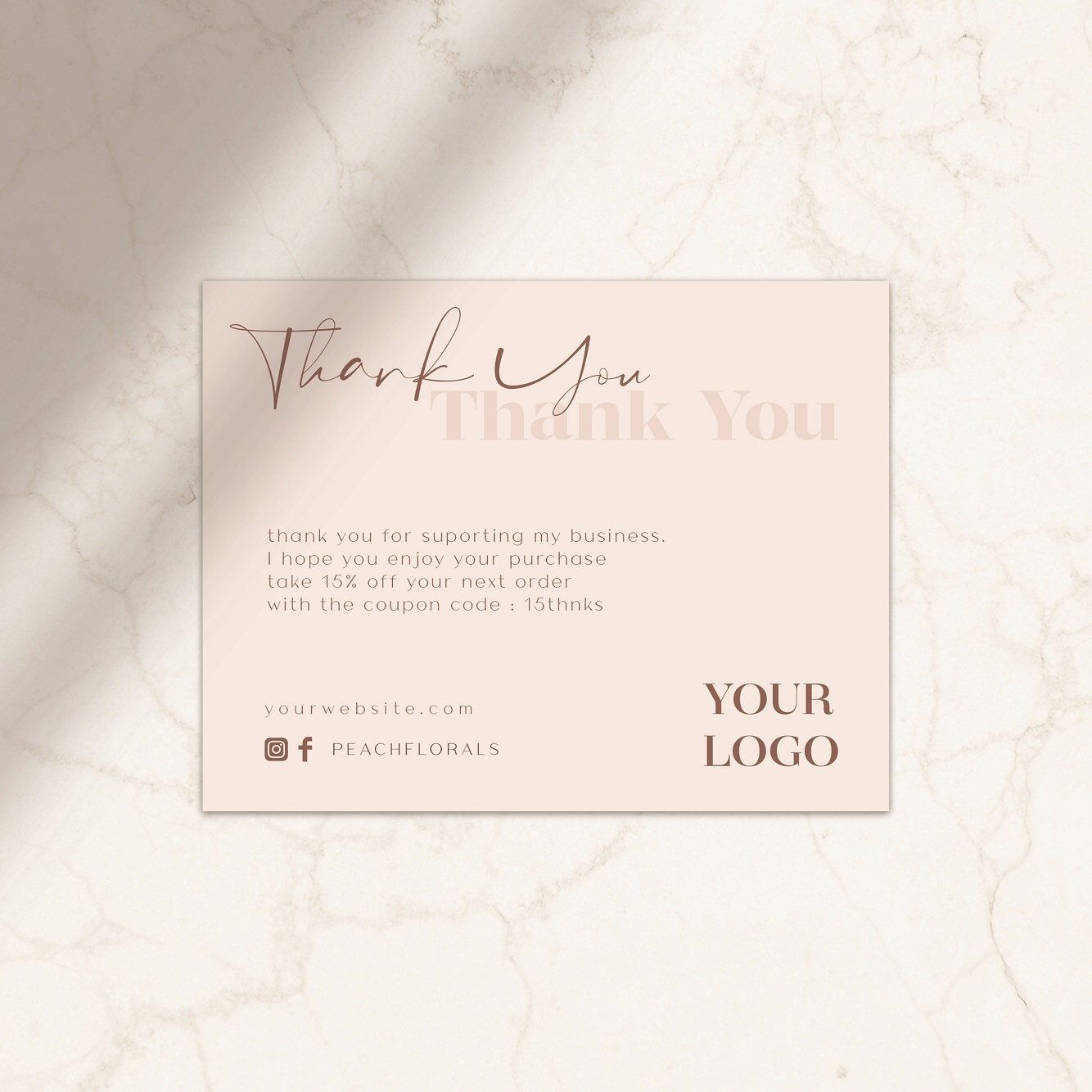 Excited To Share This Item From My Etsy Shop Thank You Card Business Thank You Card Template Thank You Card Printable T Kartu Nama Kartu Nama Bisnis Kartu