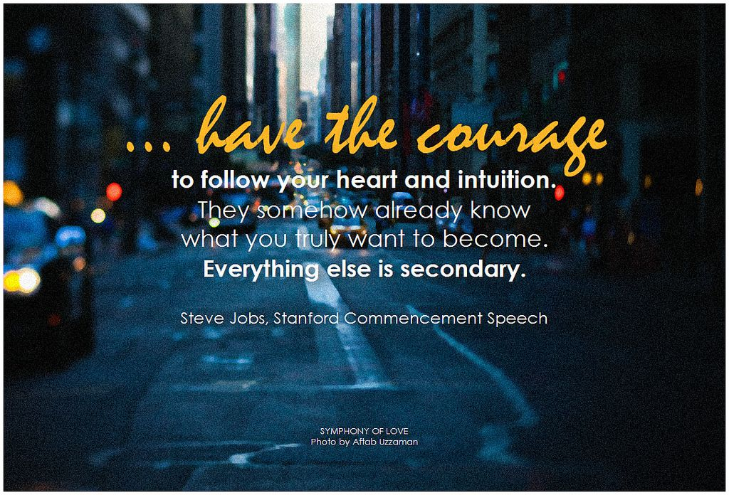 If You Want To Know Where Your Heart Is Look Where Your: Have The Courage To Follow You Heart And Intuition. They