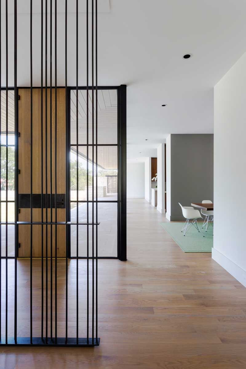Interior Architectural Screen : Courtyard house by tim cuppett architects screen