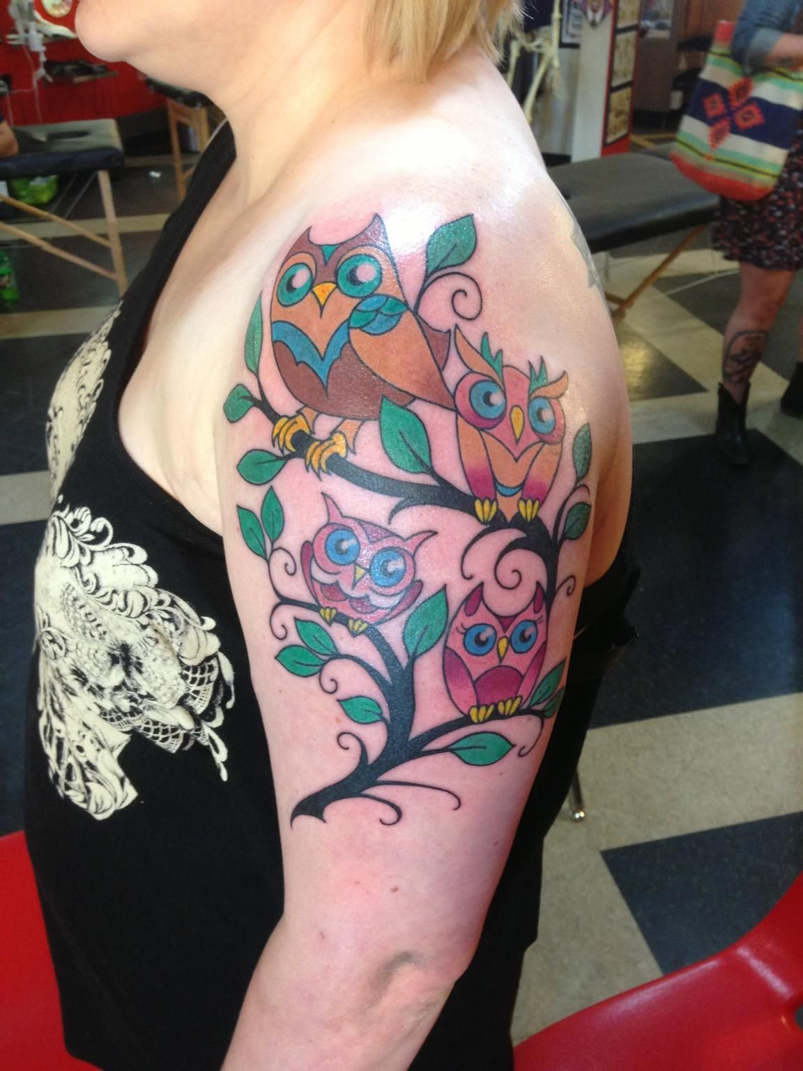 Owl Family Tattoo My Beautystyle Family Tattoos Branch Tattoo