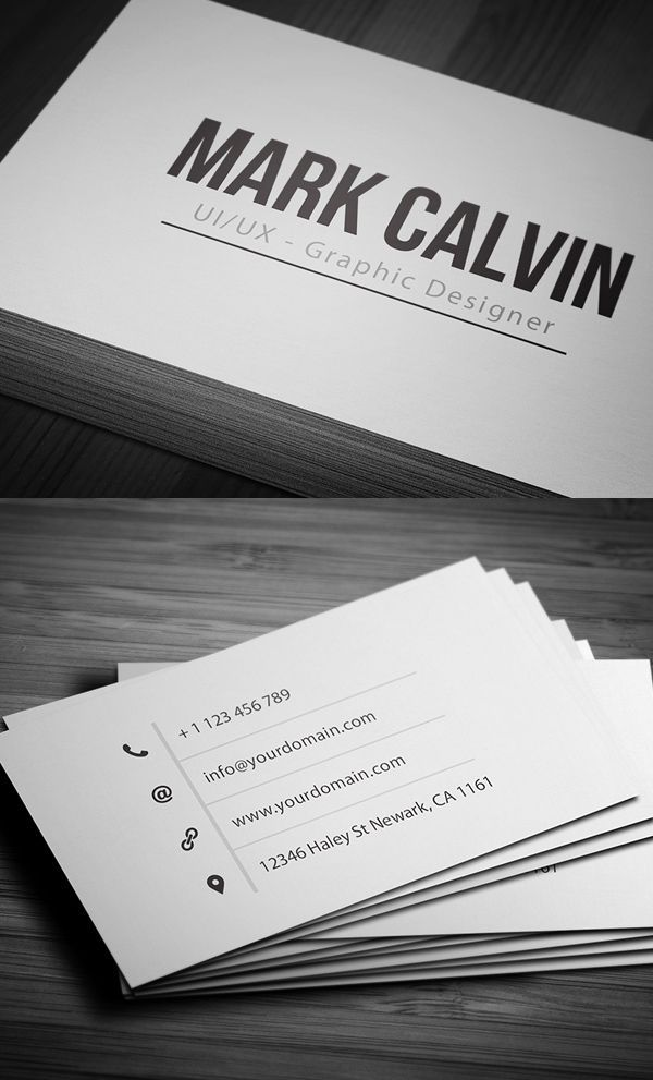 clean simple business card design design business cards