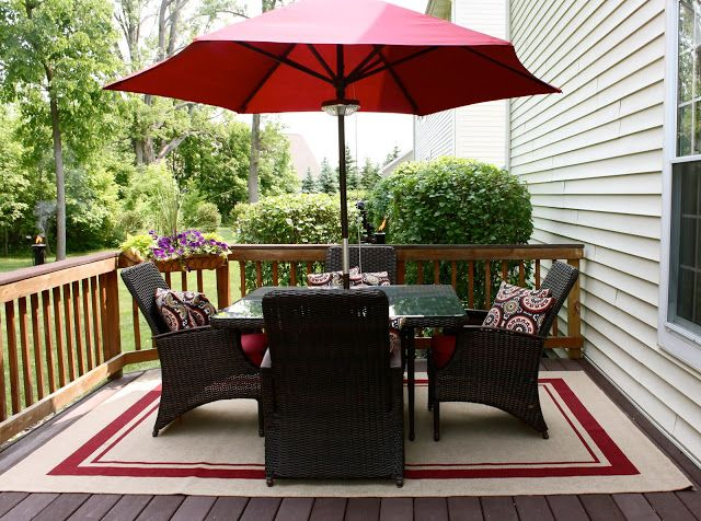 Room Makeovers Red Patio Outdoor Rugs Patio Pottery Barn