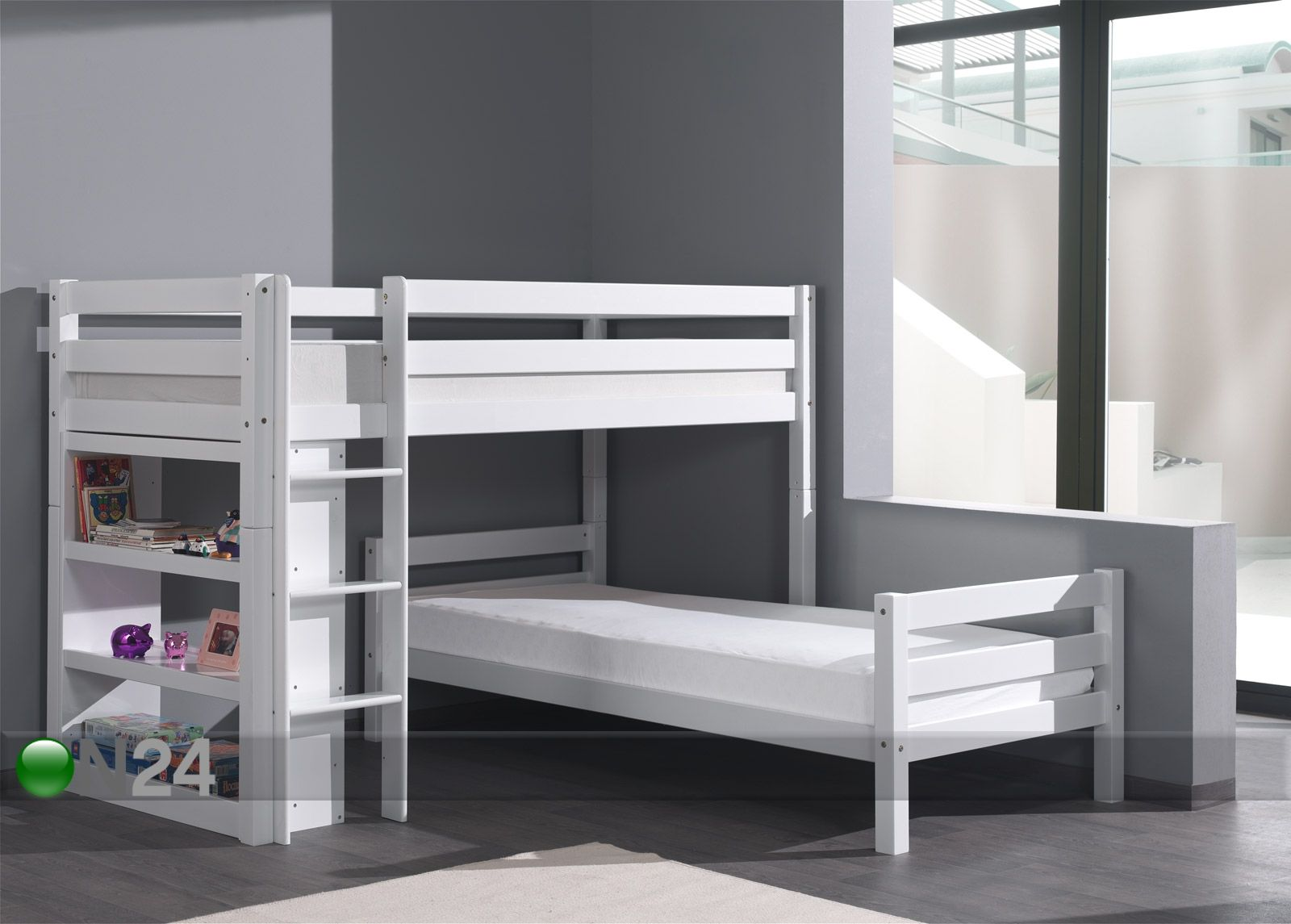 corner bunk bed kerross nky forrest py kki 90x200 cm aq 51935 on24 sisustustavaratalo. Black Bedroom Furniture Sets. Home Design Ideas