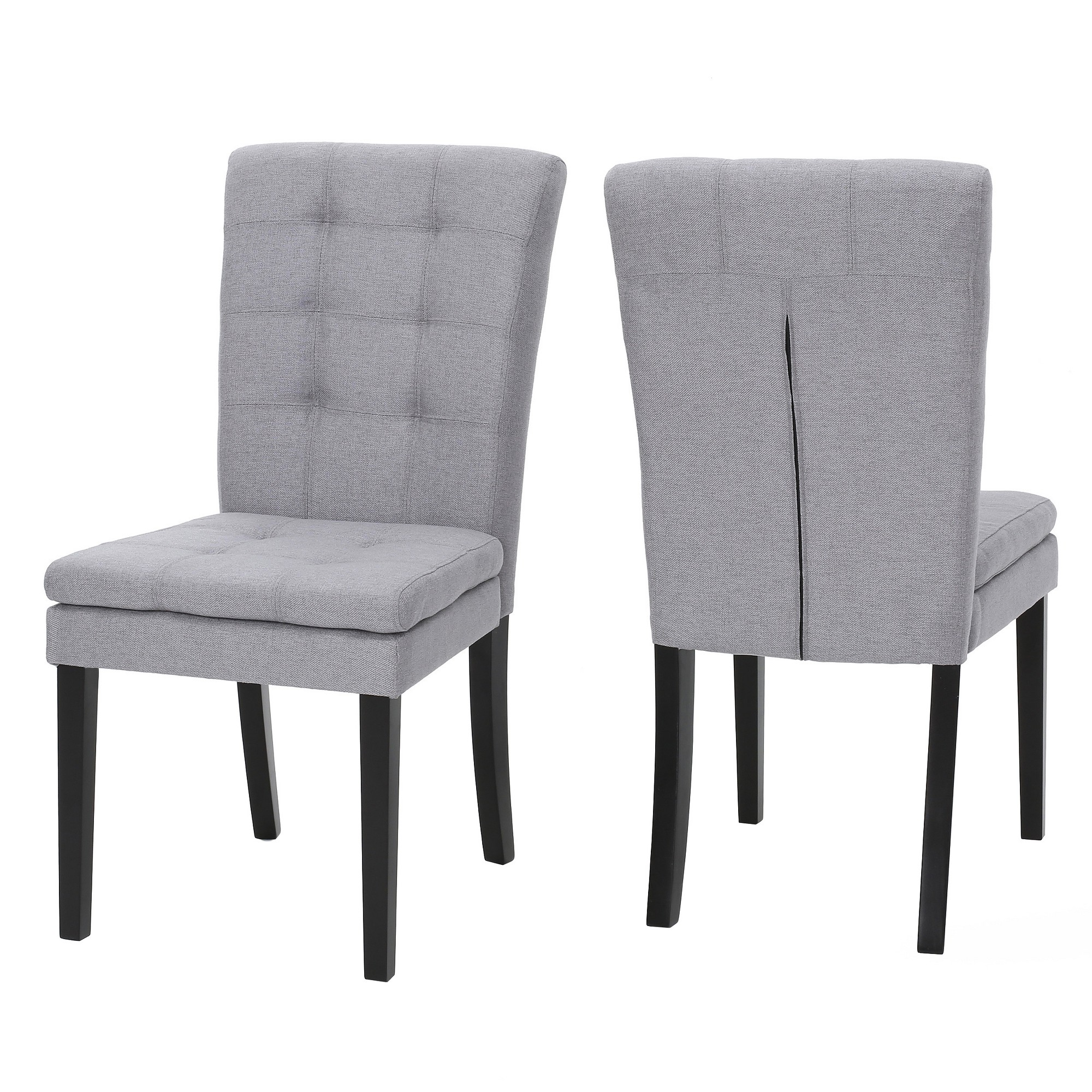 Rustikaler wohnzimmerspiegel cortez dining chair set of   light gray  christopher knight
