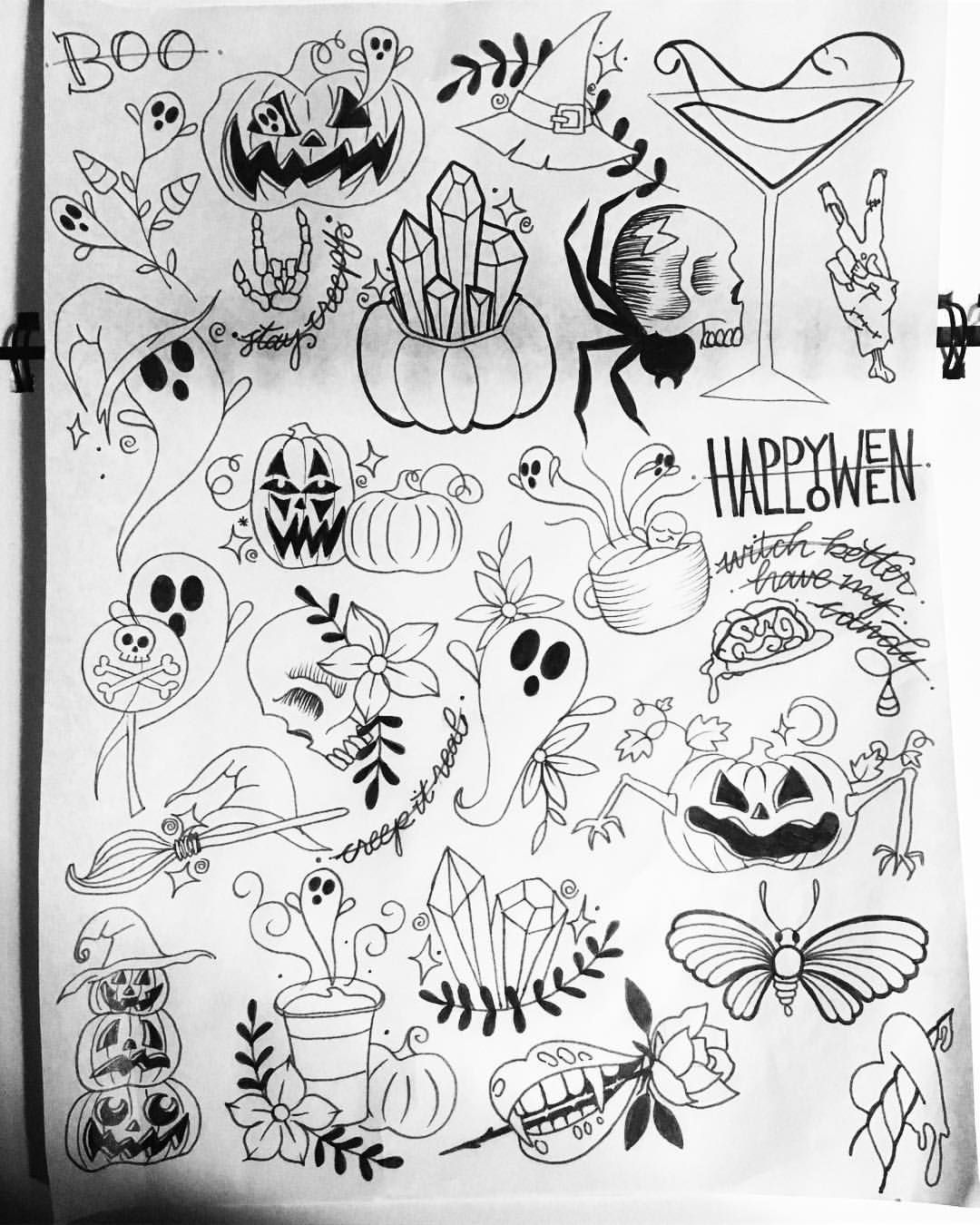 My previous flash sheets and my NEW Halloween flash sheet