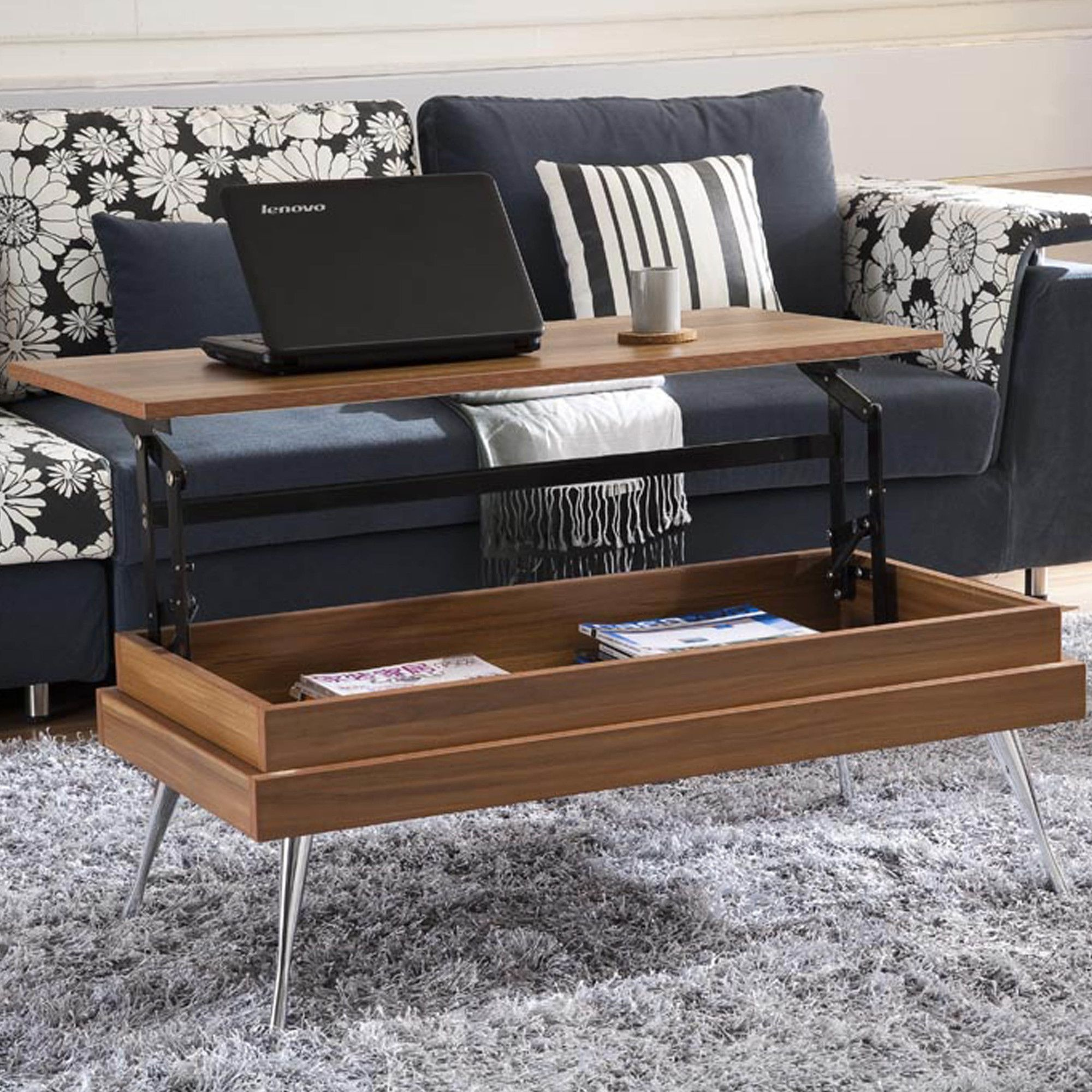 Similar To The West Elm Coffee Table Though Smaller Its Less - West elm lift up coffee table