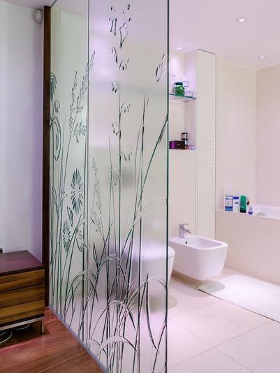 5 Textured Glass Meadow Grasses Glass Shower Shower Screen Glass Partition Wall