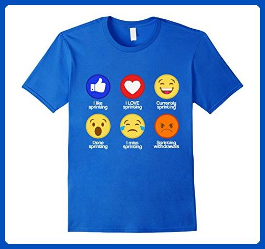 Mens Stages Of Track And Field Sprint Emoji Funny Sprinting Tee Large Royal Blue Sports Shirts A Funny Basketball Shirts Basketball Shirts Basketball Funny