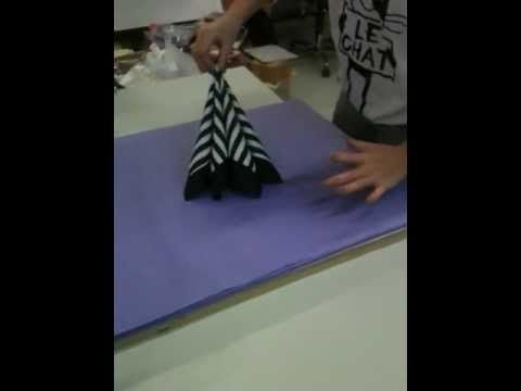Servietfoldning, video med servietfoldninger, hvordan folder man servietter