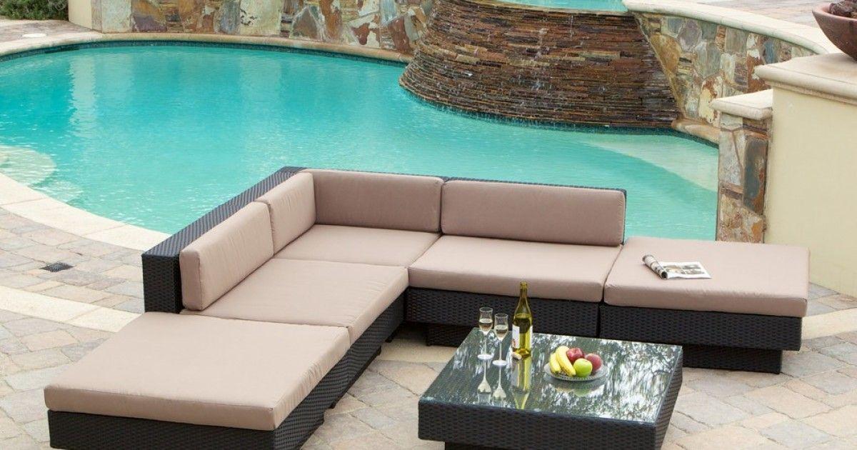 Conjunto De Sofa Y Mesa De Centro De Ratan Perfecto Para