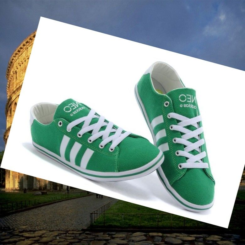 outlet store ad347 02573 Adidas Originals Stile NEO Scarpe Da Uomo Verde Bianco.There are modern  sneakers with green and white color,Don t m…   A good place to buy sports  shoes ...