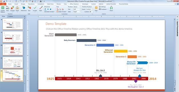make a timeline powerpoint template using office in 2020 templates