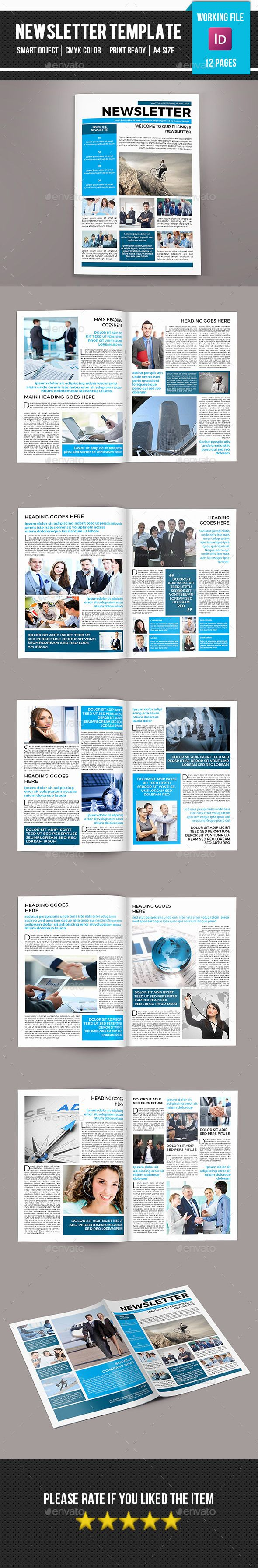 Corporate Newsletter-V05 | Print templates, Newsletter templates and ...
