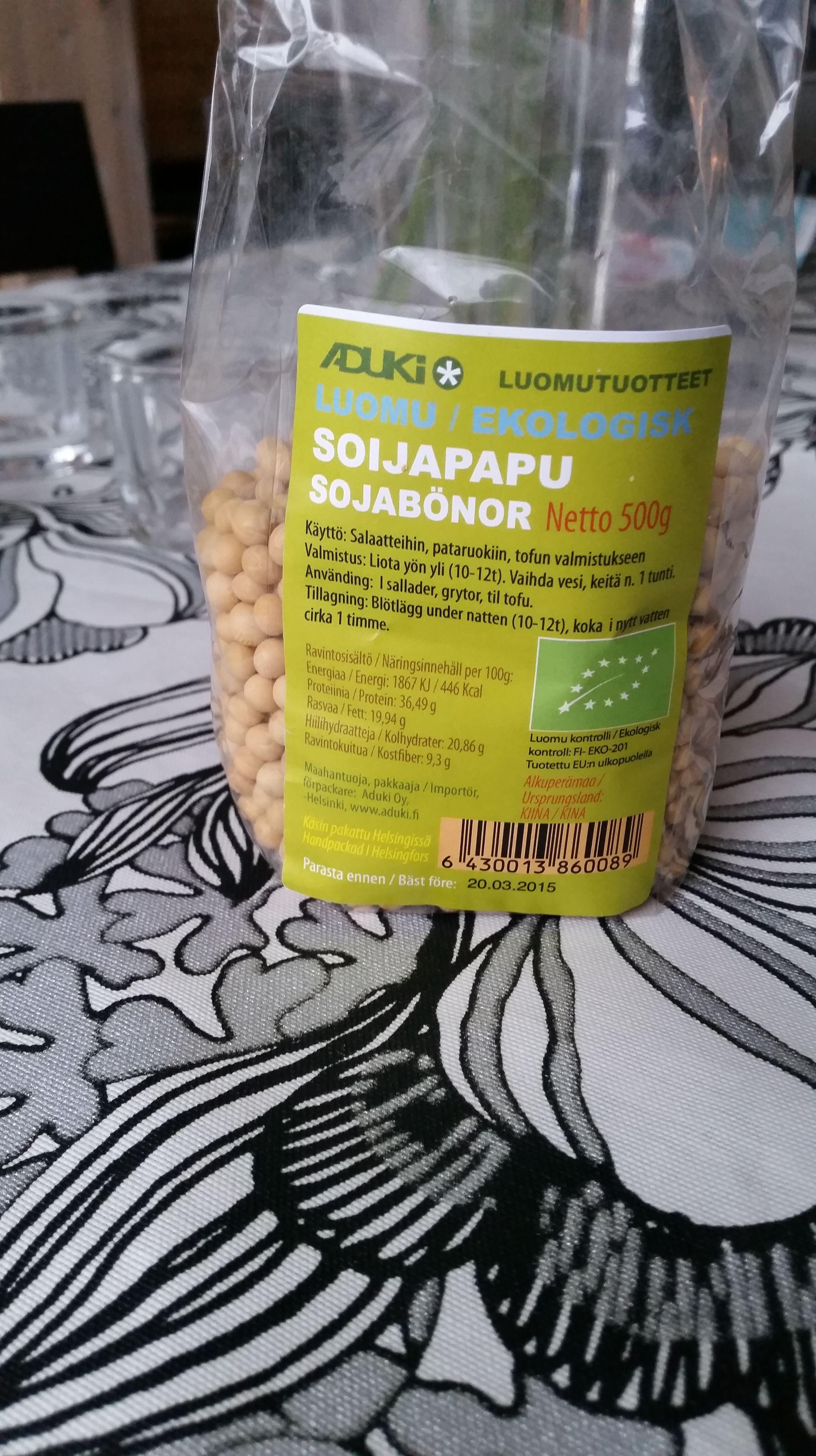 paahdetut soijapavut