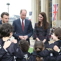 The Duke and Duchess of Cambridge leave Les Invalides in Paris, France