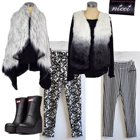 Stunning new items for #Winter16 #trend #NicciWinter16 #monochrome #Hunter #Houndstooth