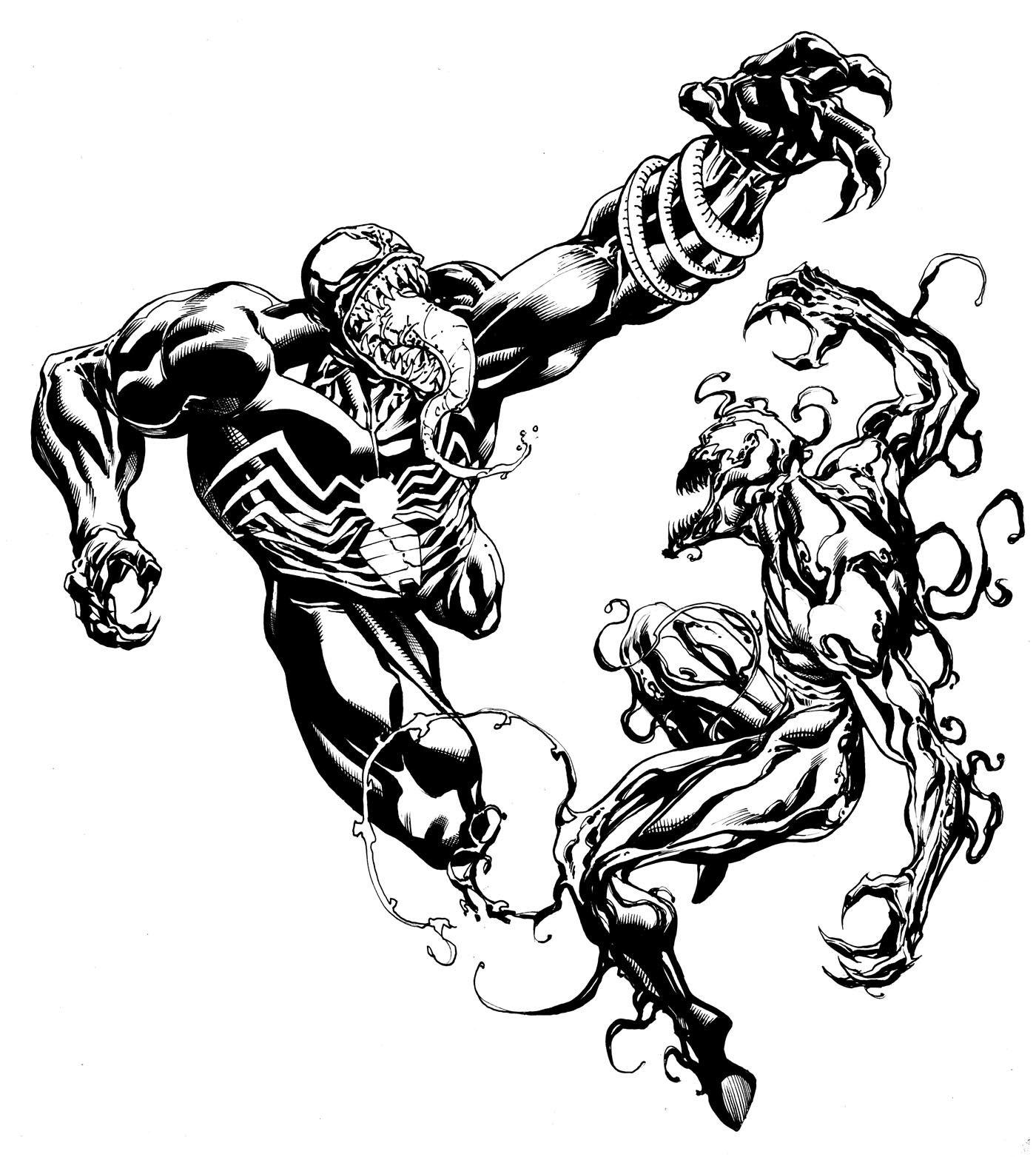 Robert Atkins Art Symbiote Partay Pt 2 Venom And Carnage
